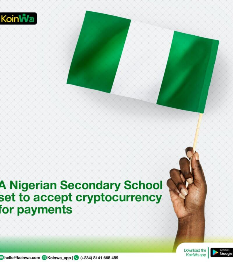 A Nigerian secondary school set to accept cryptocurrency for payment