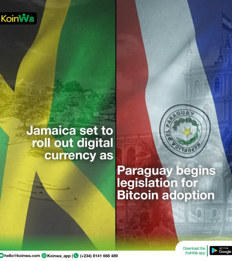 Jamaica set to roll out digital currency as Paraguay begins legislation for bitcoin adoption
