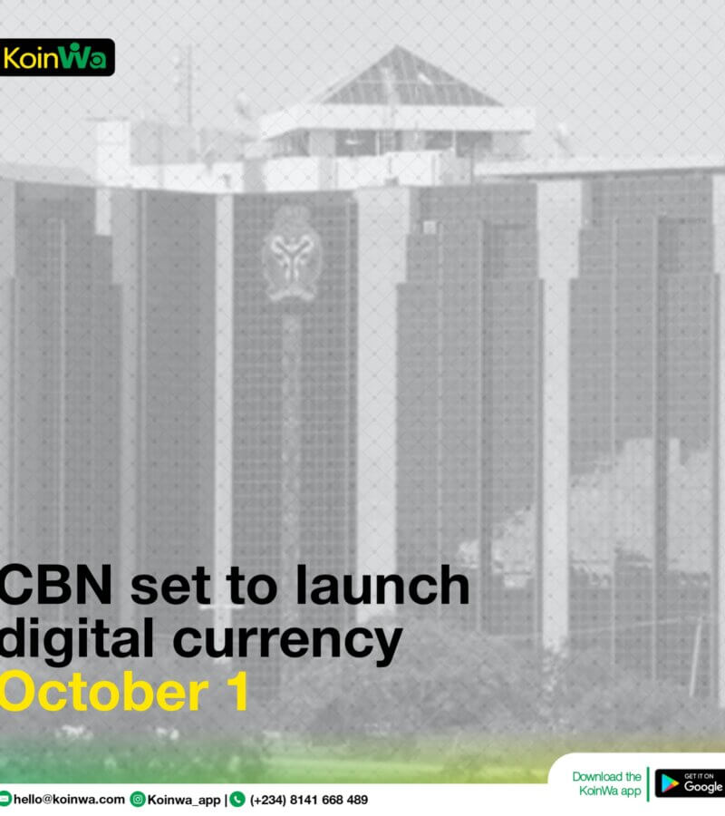 CBN set to launch digital currency by October 1