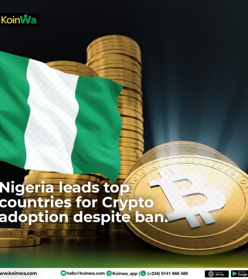 Nigeria leads top countries for Crypto adoption despite ban
